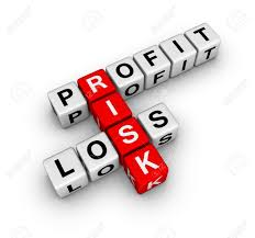 What Is Profit Loss Profit Loss And Risk Buzzword Crossword Series Stock Photo