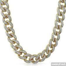 Is it greeting, cheering or dancing? 18mm Jumbo Iced Out Gold Miami Kubanischen Kette Herren Halskette Ebay