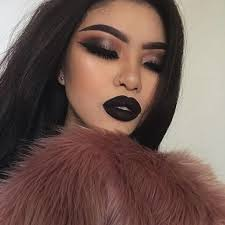 dark lip and bold eyeshadow look thatsmarsb follow for more