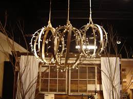 image of wine barrel chandelier idea