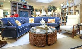 navy couch white blue and plaid piping sectional sofa with simple design decor