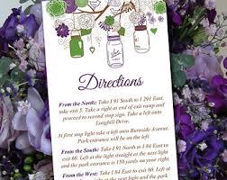 wedding directions etsy Wedding Invitation Direction Inserts Wedding Invitation Direction Inserts #35 wedding invitation direction inserts template
