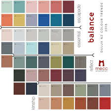 Dulux Suede Colour Chart Balance Your 2018 Interiors With Inspired Colours Mecc