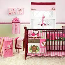 pink owl crib bedding set amazing baby girl nursery sets interior furniture cribs with drawers purple