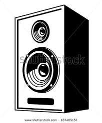 concert speakers clipart. vector black speaker icon on white background concert speakers clipart