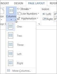 Newsletter In Word Create Newsletter Style Columns Word