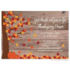 Thanksgiving Invites Thanksgiving Day Barn Wood Invitation