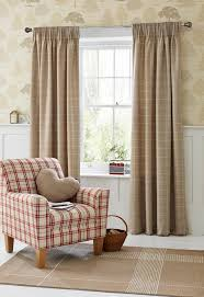 Next Living Room Curtains Buy Natural Homely Check Pencil Pleat Curtains From The Next Uk