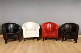 clearance faux leather tub chair armchair with a choice of 4 colours