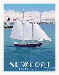 Newport, RI Painting by Leslie Alfred McGrath