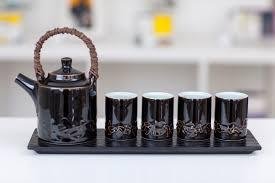 Tenmoku tea set by Chris Keenan — cambridge contemporary art