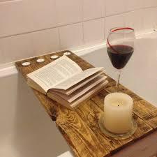Bath Tray Reclaimed Wood Bath Shelf Bath Tray Caddy For Your Books