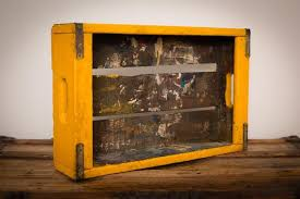 Mustard yellow paint Bedroom Image Etsy Dirty Painted Wood Crate Tray Mustard Yellow Paint Etsy