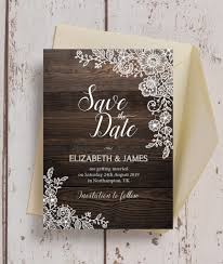 Winter Wedding Save The Date Rustic Wood Lace Wedding Save The Date From 0 85 Each