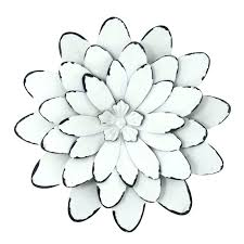 flower metal wall art decor flowers simple design decoration of w