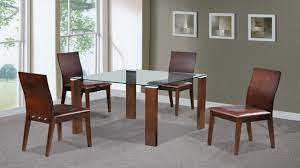 glass and wood dining table. Beech, Walnut, Glass Dining Table And 4 Chairs Wood