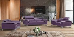 modern sofas and chairs. 2018 Purple Modern Leather Sofa Sets Designs And Ideas Sofas Chairs