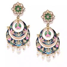 gold colored and multicolored gemstone chandelier earrings from nike coutloot com