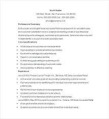 Resume Template Sales Free Sample Manager Thekindlecrew Com