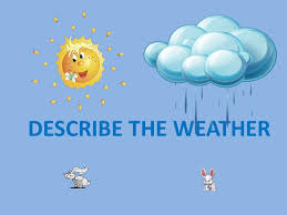 Describe The Weather The Weather Is Sunny The Weather Is Dull The