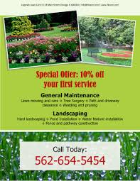 lawn care templates amazing of landscaping advertising ideas garden decors