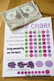 Chore Chart With Money Reward The Gilded Pear Chore Charts Allowance Free Printable