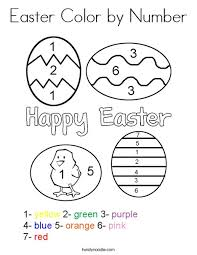 First, start out by printing the black and white pages. Easter Color By Number Coloring Page Twisty Noodle
