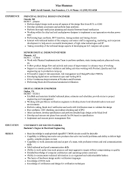 Digital Design Engineer Resume Digital Design Engineer Resume Samples Velvet Jobs 1