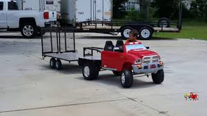 kruz playing and backing up his custom built gooseneck trailer on kv show
