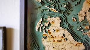 Wood Bathymetric Charts Maps Laser Cutters And Bathymetry The Amazing Wooden