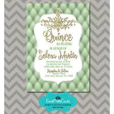 Invitation Quincenera Mint Green Gold Quinceanera Invitations Sweet 15th Birthday