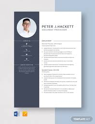 Document Processor Resume Template Word Apple Pages