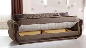 Perfect Sofa Bed With Storage Light Brown Fabric Modern Convertible Wstorage Throughout Design Ideas