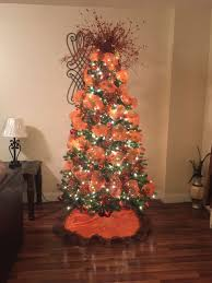 My Christmas Tree Decoration Burnt Orange And Brown Color Theme