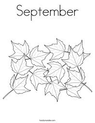 Small Picture September Coloring Page Twisty Noodle