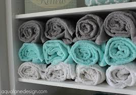 diy towel storage. 15 Tips For Organizing Your Linen Closet: Towel Storage Ideas | Thegoodstuff Diy