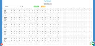 Gali Desawar 2019 Result Chart Play Bazzar Gali Desawar