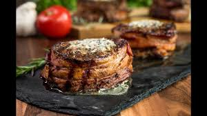 bacon wrapped filet mignon. Modren Mignon BaconWrapped Filet Mignon With Compound Butter Intended Bacon Wrapped