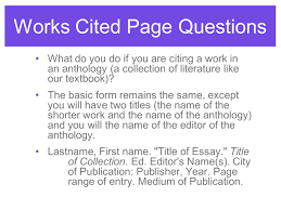 Works Cited Giving Credit Using Mla Format Most Important Slide Of