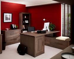 red home office. Contemporary Office Red Luxury Wall Color And Wood Table In Home