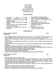 Technical Resume Templates Custom Instrumentation Technician Resume Template Premium Resume Samples