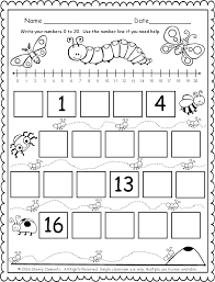 Small Picture FREEBIE 5 pages Fill in the missing numbers 0 20 with the