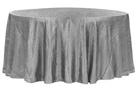 crushed taffeta 132 round tablecloth silver