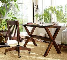 wooden swivel desk chair. Modren Swivel Swivel Desk Chair Pottery Barn Throughout Wood Chairs Design 16 With Wooden