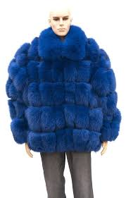 big fur coat mens fur coats for men full skin royal blue fox fur jacket for big fur coat