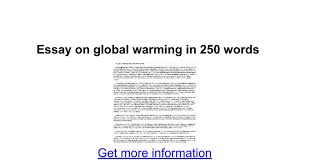 essay on global warming in words google docs