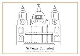 St Cathedral Colouring Page St Paul Coloring Page Home Improvement