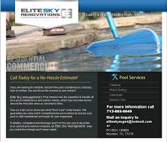 pool service flyers. Elite Sky Services Flyer. Flyers Pool Service