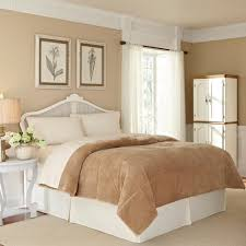vellux plush lux sand polyester king blanket