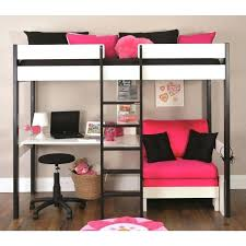 futon sofa bunk bed. Loft Bed With Couch Black And White Girls Bunk Pink Futon Sofa  As